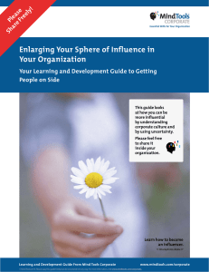 Enlarging Your Sphere of Influence in Your Organization