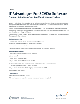 IT Advantages For SCADA Software