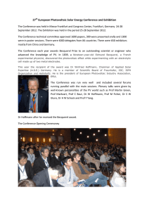 27th European Photovoltaic Solar Energy Conference and Exhibition
