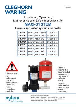 Maxi-System Instructions