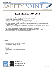 FALL PROTECTION QUIZ