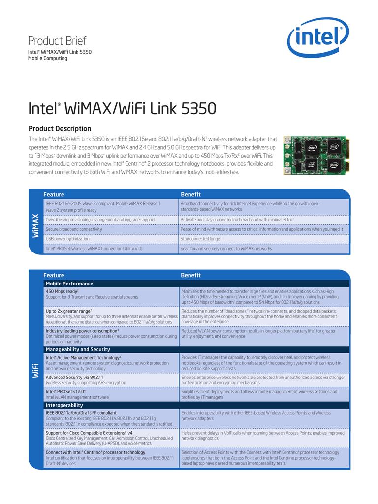 INTEL WIFI LINK 5350 DRIVERS WINDOWS XP