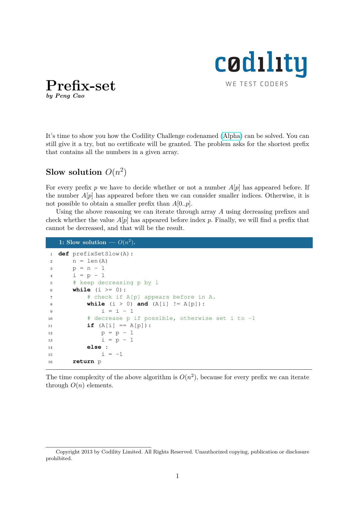 Prefix-set