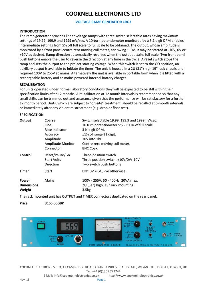 Voltage Ramp Generator