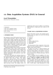 132: Data Acquisition Systems (DAS) in General