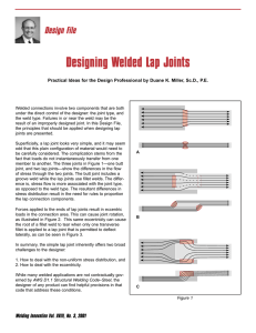 Designing Welded Lap Joints