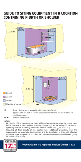 Bathroom Zones 17th Edition extract from 17 edition electricity in swimming pools regulations