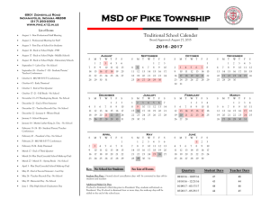 MSD of Pike Township - Metropolitan School District of Pike Township