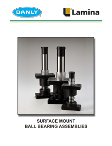 Surface Mount Ball Bearing Assemblies