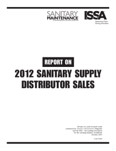 2012 sanitary supply distributor sales