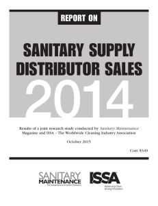 sanitary supply distributor sales 2014
