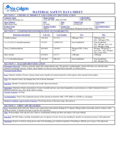 material safety data sheet - Nu