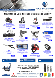 Prawn Batteries Included Flounder Light 3 Watt LED 130 Lumens Waterproof