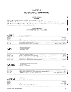 ANSI API ASME ASTM - International Code Council