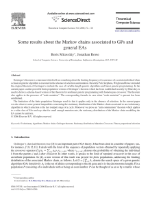 Some results about the Markov chains associated to GPs and