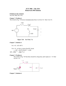 ECE 2006 Fall, 2011 Homework #06 Solution