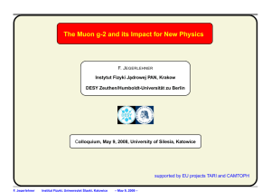 The Muon g-2 and its Impact for New Physics