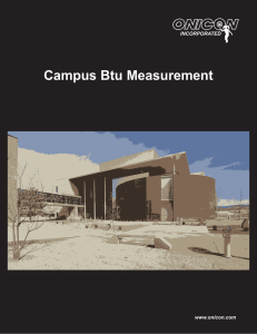 Campus BTU Measurement Brochure
