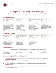 Management Information Systems - The Career Center