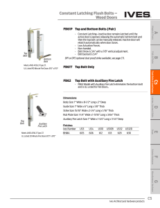 Constant Latching Flush Bolts – Wood Doors