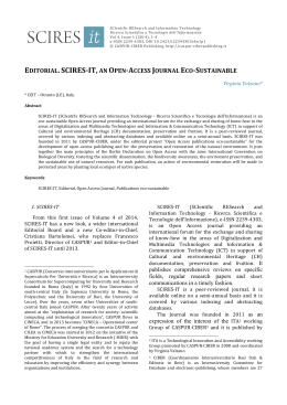 editorial. scires-‐it, an open-‐access journal eco