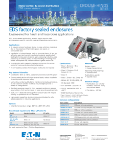 EDS factory sealed enclosures
