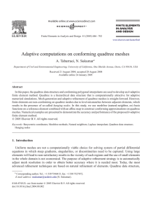 Adaptive computations on conforming quadtree meshes