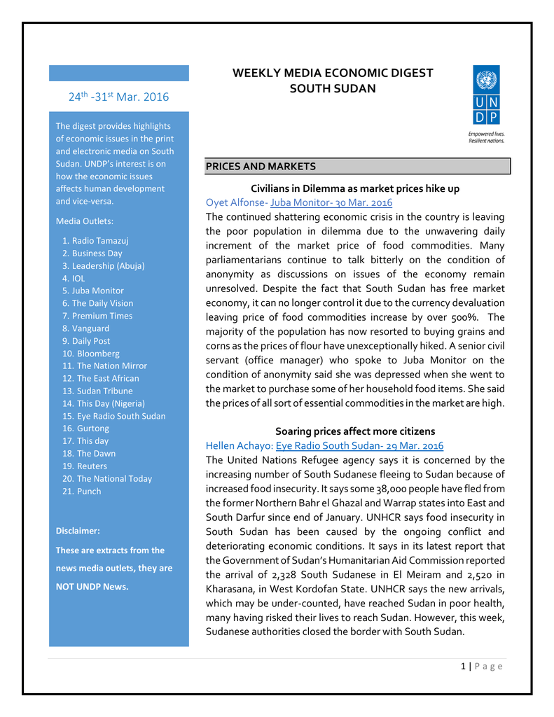 English - UNDP in South Sudan