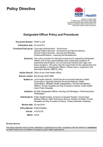 Designated Officer Policy and Procedures
