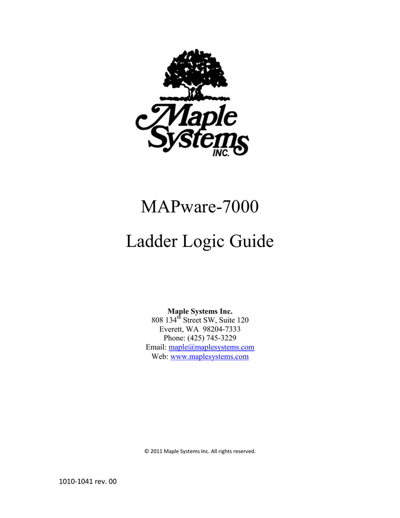 Mapware 7000 Ladder Logic Guide Diagram Of Plc Is Divided Into Figure