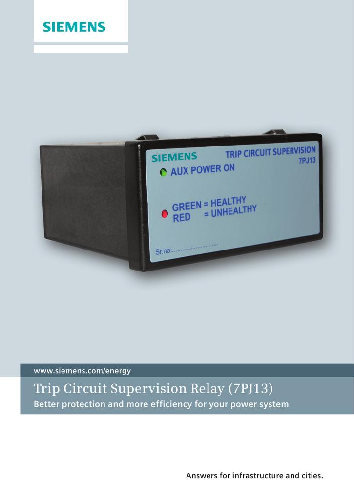 trip circuit supervision relay 7pj13 rh studylib net ABB Relays Manuals Box Type Relay Refrigeration