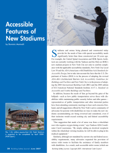 Accessible Features of New Stadiums