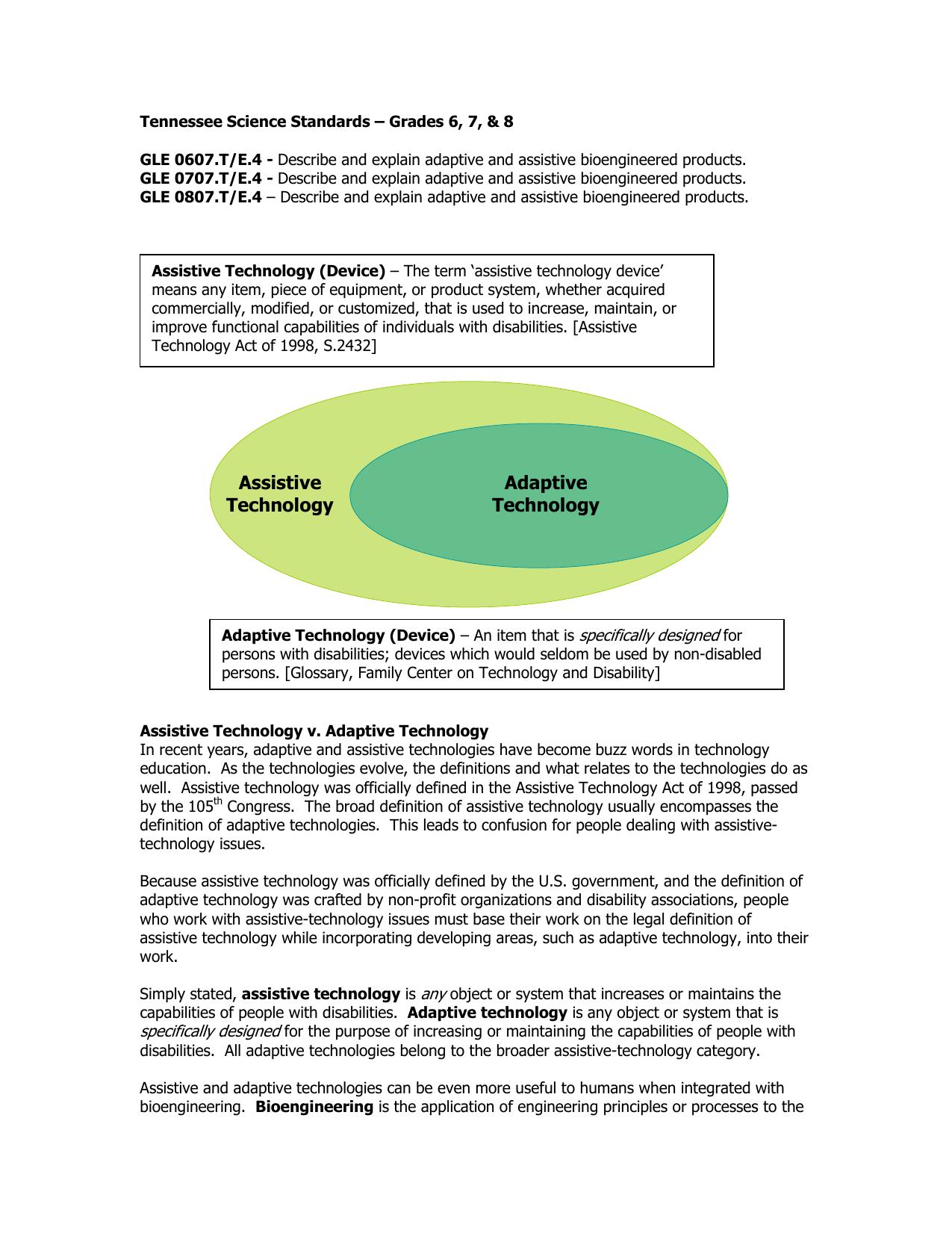 adaptive technology assistive technology