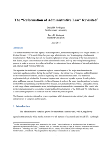 """Reformation of Administrative Law"" Revisited"