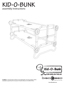 assembly instructions - Kid-O-Bunk