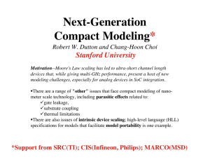 Next-Generation Compact Modeling*