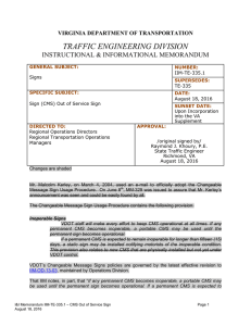 traffic engineering division - Virginia Department of Transportation