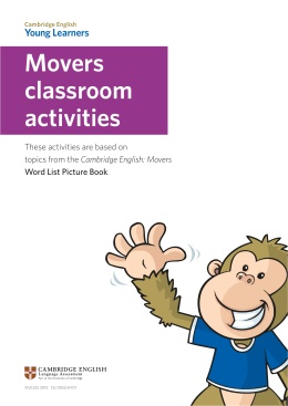 Movers classroom activities