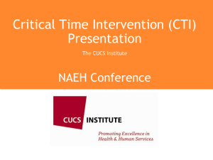 Critical Time Intervention (CTI) Presentation by The CUCS Institute