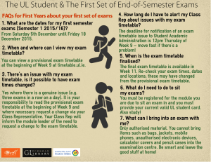 FAQs First Year Exams - University of Limerick