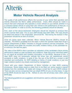Motor Vehicle Record Analysis