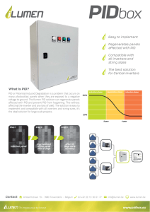www.pidbox.eu Easy to implement Regenerates panels affected
