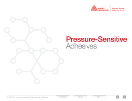 Pressure-Sensitive Adhesives