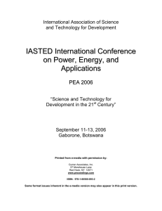 IASTED International Conference on Power