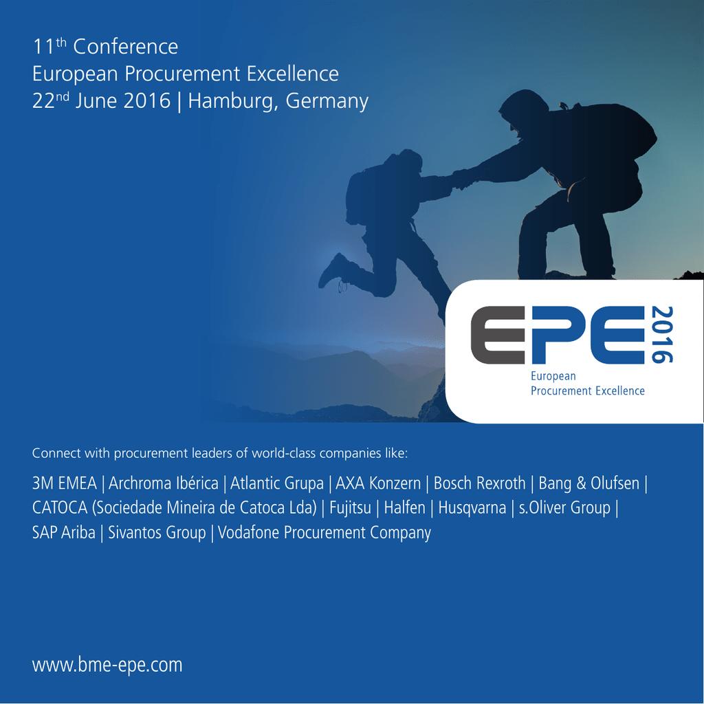 www bme-epe com 11th Conference European Procurement