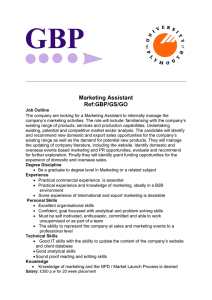 Marketing Assistant Ref:GBP/GS/GO