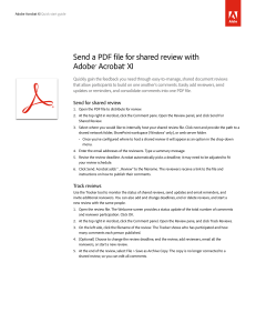 Send a PDF for shared review with Acrobat XI