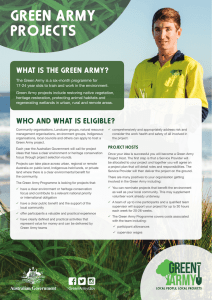 Green Army Projects fact sheet
