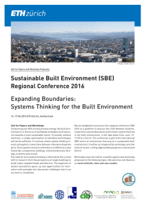 Sustainable Built Environment (SBE) Regional Conference 2016