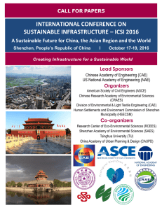 international conference on sustainable infrastructure – icsi